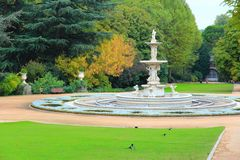 Madrid Sabatini Gardens Stock Images