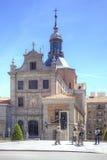 madrid Sacramento kyrka av Santa Maria Royaltyfria Bilder