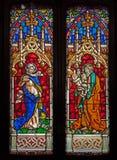 Madrid - Saint Joseph from windowpane of church San Jeronimo el Real. Stock Photos