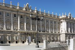 Royal palace in Madrid Stock Photos