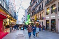 Madrid Shopping Street, Spain Royalty Free Stock Photo