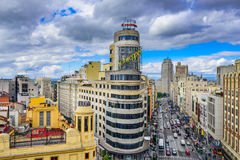 Madrid Shopping Streets Royalty Free Stock Photos