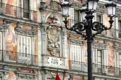 Madrid - sindaco della plaza fotografia stock libera da diritti