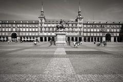 Madrid - sindaco della plaza Fotografia Stock