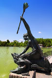 Madrid sirena con cetro mermaid statue in Retiro Stock Image
