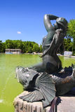 Madrid Sirena sobre Pez mermaid statue in Retiro Royalty Free Stock Photo