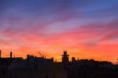 Madrid-Skyline lizenzfreie stockfotos