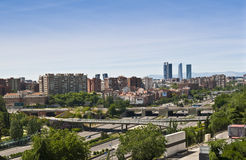 Madrid skyline. Urban landscape of Madrid, spain Royalty Free Stock Image