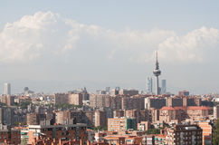 Madrid skyline. A high-angle view of the skyline of Madrid Stock Images