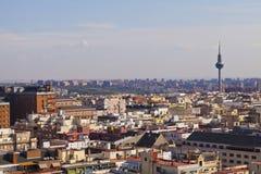 Madrid Skyline Royalty Free Stock Photos