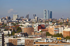 Madrid Skyline stock image