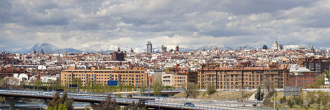 Madrid Skyline Royalty Free Stock Images