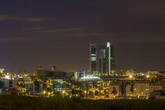 Madrid-Skyline Stockfotos