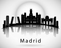 Madrid-Skyline lizenzfreie abbildung