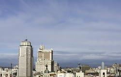 Madrid Skyline Royalty Free Stock Image