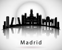 Madrid skyline. Madrid city skyline design. Vector illustration Stock Images