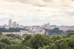 Madrid skyline Stock Photos