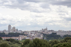Madrid skyline Royalty Free Stock Photography