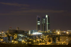 Madrid skyline Royalty Free Stock Photo