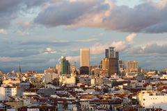 Madrid skyline. Panoramic aerial view of Madrid's skyline, Spain Royalty Free Stock Image