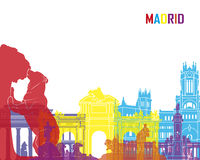 Madrid skyline pop Royalty Free Stock Photography