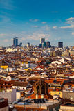 Madrid Skyline, Spain Royalty Free Stock Photos