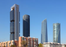 Madrid skyline Stock Photography