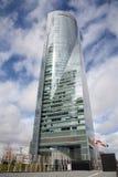 Madrid - skyskrapa Torre Espacio. Royaltyfri Fotografi