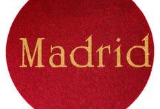 Madrid som är skriftlig av en spansk stad med, blänker stilsorten Royaltyfria Foton