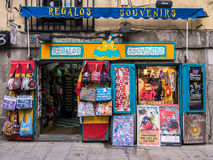 Madrid Souvenir Shop Royalty Free Stock Images
