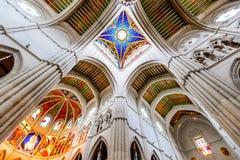 Madrid, Spagna - Almudena Cathedral Fotografia Stock