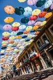 Madrid, Spagna decorazione variopinta delle vie del fondo del 25 luglio 2014 Immagini Stock Libere da Diritti