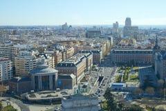 Madrid, Spagna 12 gennaio, 2019 Orizzonte di Madrid dal livello fotografia stock libera da diritti