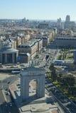 Madrid, Spagna 12 gennaio, 2019 Orizzonte di Madrid dall'alta struttura del rire fotografie stock libere da diritti