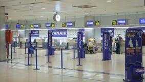 MADRID, SPAGNA - 28 MAGGIO 2014: Interno dell'aeroporto di Madrid, aria aspettante di partenza Fotografia Stock