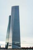 Grattacielo della costruzione di settore commerciale di Torres di cuatro (CTBA), in Madri Immagini Stock Libere da Diritti