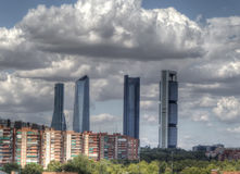 MADRID, SPAIN – AUG 02: Four Towers Business Area panoramic vi Stock Images