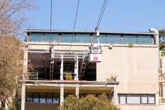 Madrid/Spain – 03.03.2019 :    Cable car telepherique of Madrid Spain stock image