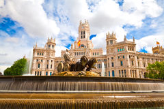 Madrid, Spain. Plaza de Cibeles, Madrid, Spain Royalty Free Stock Images