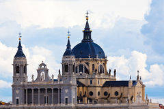 Madrid, Spain. The Almudena cathedral in Madrid, Spain Royalty Free Stock Photography
