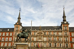 , Madrid, Spain. Plaza Mayor in Madrid, capital of Spain Royalty Free Stock Image