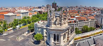 Madrid Spain. Aerial view of Madrid in Spain Stock Photos