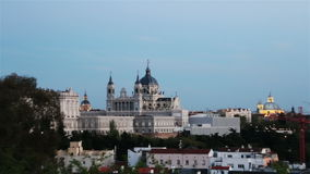 Madrid. Spain. Almudena Cathedral. Zoom stock video