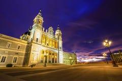 Madrid spain almudena church Stock Photo