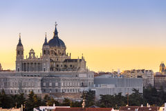Madrid spain almudena church Stock Photos