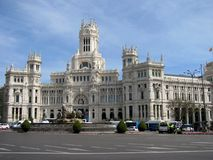 Cibeles Palace formerly the Palace of Communication at the Plaza de Cibeles stock image