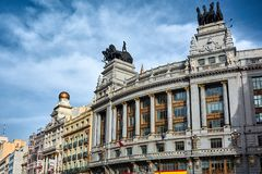 BBVA building in Madrid Royalty Free Stock Photography