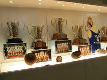 Museum of Santiago Bernabeu Stadium. MADRID, SPAIN - April 20, 2012: Museum of Santiago Bernabeu Stadium royalty free stock image