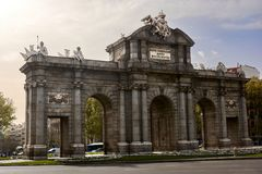 The Alcala Gate in Madrid Royalty Free Stock Photography