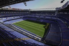 Stadium of Real Madrid royalty free stock photos